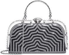 Yuenjoy Womens Evening Bags Rhinestone Clutch Purse for Bridal Wedding (Black): Home & Kitchen Handbags On Sale, Purses And Handbags, Clutch Purse, Crossbody Bag, Women's Clutches & Evening Bags, Wedding Purse, Fashion Bags, Fashion Handbags, Shoulder Handbags