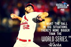 Wacha before pitching in his first World Series game