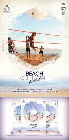 Beach Volleyball Festival Flyer Template #design #flyerdesign Download: http://graphicriver.net/item/beach-volleyball-festival-flyer/12163753?ref=ksioks