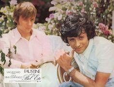 """Francis Huster e Jacques Spiesser in """"Faustine et le bel été"""" (1972); regia: Nina Companeez (fotobusta) Francis Huster, Cartoons, Films, Couple Photos, Couples, 2016 Movies, Couple Pics, Cartoon, Movies"""