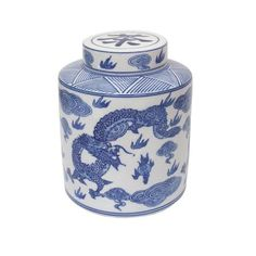 Oriental Illuminations Round Dragon Tea Caddy