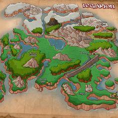 The map of Legarion Map. #lfg #lookingforgroup #Kickstarter