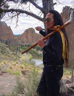 "Native American Flutist, Charles Littleleaf, ""We are gifted from our Creator only a small number of heartbeats in this lifetime. If they can beat in happiness, then we are truly living. MY DEAR FRIEND Native American Music, Native American Beauty, Native American Photos, Native American Artists, American Spirit, Native American History, American Indians, In This World, Nativity"