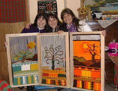 "telares ""Sapikuna "" Weaving Art, Loom Weaving, Tapestry Loom, Africa Art, Tapestry Design, Cork Crafts, Textile Art, Fiber Art, Textiles"
