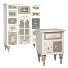 Vintage Shabby Tall Chest and Side Chest