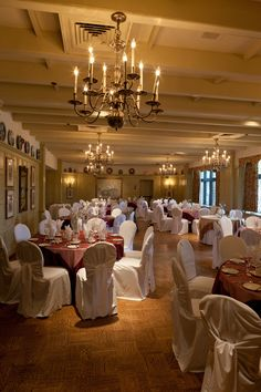Candle light reception venue without guests.  Toronto Old Mill, Ontario.   www.stjacquesphotography.com