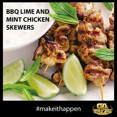 BBQ LIME AND MINT CHICKEN SKEWERS  Greatest Athlete - Register at www.greatestathle... #makeithappen #greatestathleteau#fitness #exercise #wellbeing#inspiration #adventurechallenge#obstaclerace #crossfit #challenge#sport #health #fitspiration #fitspo#workout #Sydney #Melbourne #Canberra #Brisbane #Adelaide #Perth