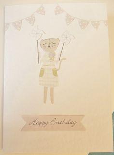 Happy Birthday by Vicki Riley Cat Birthday, Happy Birthday, Kitty, Children, Illustration, Happy Brithday, Little Kitty, Young Children, Boys