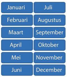 Maanden van het jaar - 12 planbord magneetjes - kinderplanborden.nl