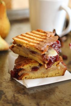 Caramelized Pear and Cranberry Sauce Panini from The Roasted Root + 50 Thanksgiving Leftovers Recipes