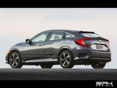 Using the teaser image of the concept and the sedan version's design, a rendering by IAB shows how the production-spec 2017 Honda Civic Hatchback would look. Honda Civic Hatchback, Automobile, Product Launch, Bmw, Vehicles, Cars, Car, Motor Car, Autos