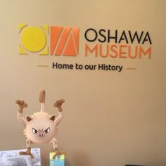 I think Mankey really likes our new logo in Guy House! Stop by and visit the Home to our History! #Oshawa #oshawamuseum #pokemongo #pokemuseum