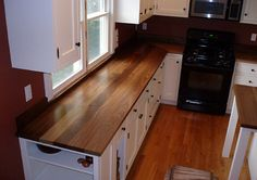 "1 1/2"" Standard Wide Plank Walnut Countertop, Eased Square Edge"