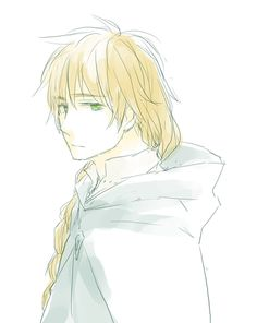 Arthur with long hair - which probably did happen at least once historically. - Artist unknown