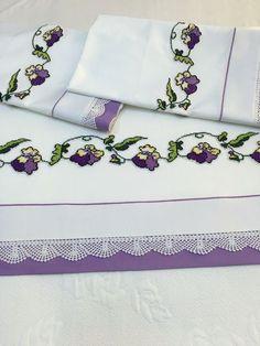 Povlečení bavlna * fialo bílé