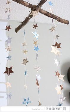 Star mobile blue nursery mobile s star mobile shower for Deko bett