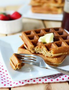 Overnight Blender Waffles. Started the night before and done super quick in the a.m. Delicious and Healthy Whole Grains. Can be made in a food processor too.