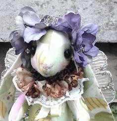 OOAK Easter Rabbit  Spring Fairy Bunny Cloth by paulasdollhouse, $69.00
