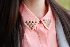 The buttoned collars bring me back. I wore these all the time back in the day and placed a rhinestone PARIS pin right on the collar.