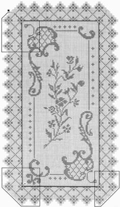 crochet em revista Crochet Tablecloth Pattern, Crochet Curtains, Crochet Motif, Crochet Doilies, Crochet Lace, Thread Crochet, Crochet Stitches, Doily Patterns, Crochet Patterns