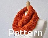 Knit Cowl Pattern, Knitted Scarf Pattern, Knitting Pattern, Knitted Neck Warmer Pattern, Chunky Scarf Pattern. $4.00, via Etsy.