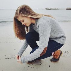 This winter, pair your jeans and bean boots with a simple sweater with elbow patches. Let DailyDressMe help you find the perfect outfit for whatever the weather!