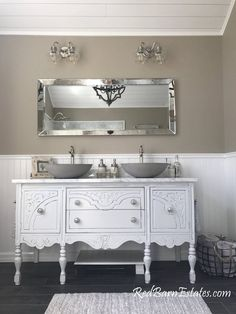 BATHROOM VANITY Double or Single We Custom Convert from #paintedfurniture #Affiliate