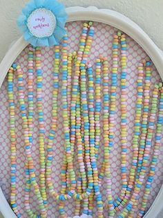 Candy necklace favor display