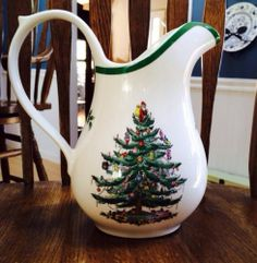 Vintage Spode Christmas Tree 48oz Pitcher