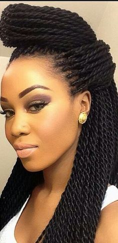 Trendy black braided updos for women. Best braided hairdos, Ideas about black braided hairstyles for long hair. Hair Styles 2016, Curly Hair Styles, Natural Hair Styles, African Hairstyles, Afro Hairstyles, Protective Hairstyles, Black Hairstyles, Fancy Hairstyles, Protective Styles