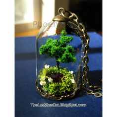 Terrarium necklace January birthstone Tree of Life by phoenixchiu