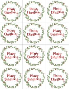 Hand Painted Gift Tags Free Printable