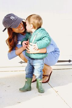 Sonnet James Play Dress mom and son picture casual mom outfit mommy blogger mom blogger