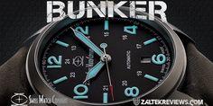 SWC Bunker 1 Field Watches, Watch Companies, Bunker, Velcro Straps, Asylum