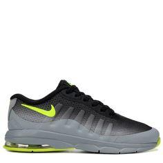 Nike Kids' Air Max Invigor Running Shoe Preschool Shoes (Grey/Black/Volt)