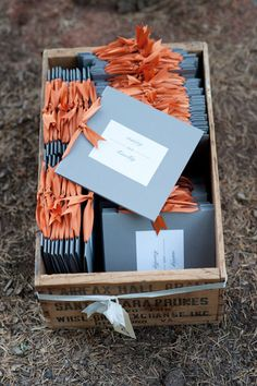Love planter boxes to hold wedding programs!!