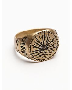 Free People | Gold Lhn Womens Sunrise Signet Ring for Men | Lyst
