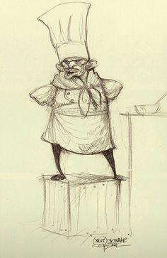 Ratatouille Croquis préparatoire : Skinner