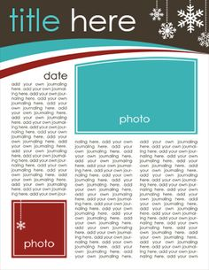 family newsletter template download by Deena Wuest