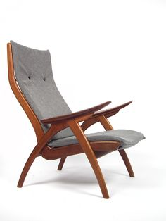 Mid-Century High Back Lounge Chair by Rob Parry for De Ster Gelderland 1