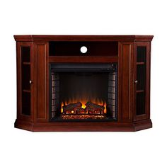 Best electric fireplace reviews - Southern Enterprises Claremont Convertible Media Cherry Electric Fireplace