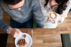 Coffee Shop Engagement Shoot | Limelife Photography