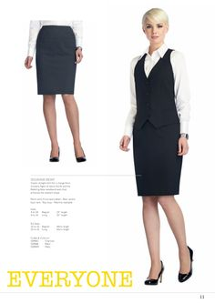 HOLBORN SKIRT Classic straight skirt for a change from trousers. Again all about the fit and the flattering false waistband seam that enhances the wearers shape. #workuniformsdirect #uniform #corporate #business #fashion