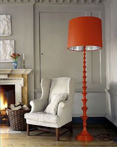 Orange Decor See More Colorful And Curvy Ikea Floor Lamp Lamps White Office Interior