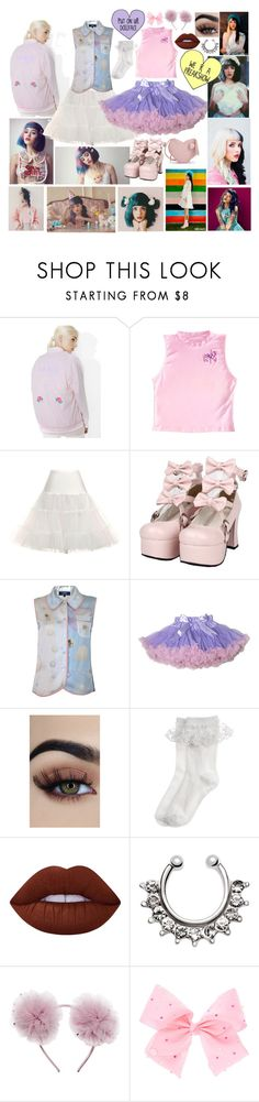 """Melanie Martinez"" by ashlyn-feezell ❤ liked on Polyvore featuring OBEY Clothing, Monsoon, Lime Crime and SIWA"