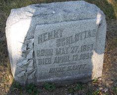 Graveyard Rabbit of Sandusky Bay: Tombstone Tuesday: Henry Schlottag #genealogy