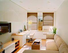 Decorar un salón rectangular simple