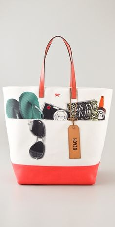I want this bag, but it's SO expensive!!!!!---Anya Hidmarch Beach Tote