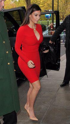 kim kardashian dress   Embrace Red: Burnt Orange, Oxblood, and Rich Holiday Hues