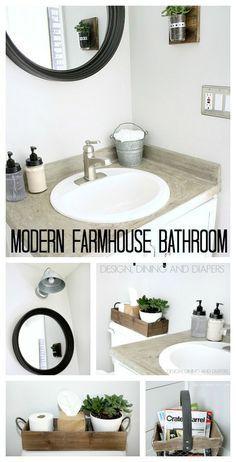 Modern Farmhouse Bathroom Reveal Concrete BathroomCountertop DecorBathroom